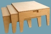 Stackable Kneeling Tables, Laminated (maple)