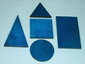 Bases for Geometric Solids, Stained Blue