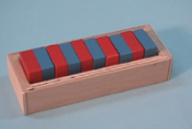 Red & Blue Centimeter Box Painted