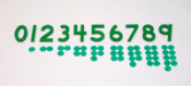 Green Cut Out numbers