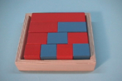 Red & Blue Fraction Box Stained