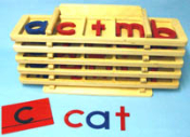 Movable Alphabet XL Set (letters, trays & stand)