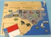 State Puzzle Map, North Carolina