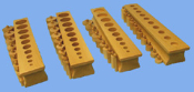 Knobbed Cylinder Block Set - 4 Blocks