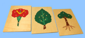 Flower, Leaf, & Tree Puzzle Set with backs