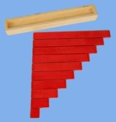 Table Top Rods-Stained Red