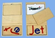 Phonetic Card, 3 letters, JET