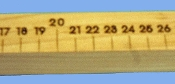 Meter Rods, 1 Natural w/centimeters
