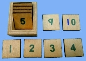 Numbers & Box for Table Rods - color coded
