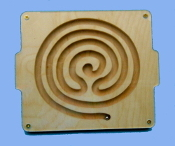 Marble Tray, Labyrinth, 3 circuit