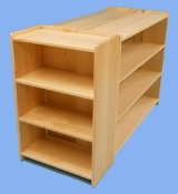End Cap, Maple, 3 Shelf