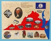 State Puzzle Map, Virginia